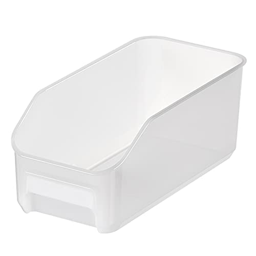 WHAIYAO Caja Contenedor De Nevera Congelar Almacenamiento Refrigerador Ordenado Bandeja De Almacenamiento Alta Capacidad Ahorrador De Espacio(Size:34.5x16.8x14cm,Color:Blanco)