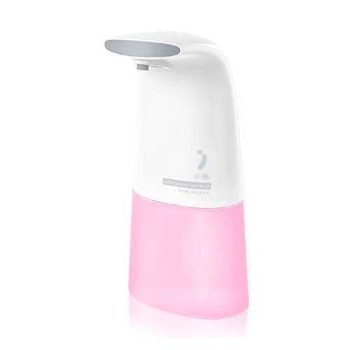 LDDLDG Dispensador de Jabón Bomba dispensadora de jabón de Espuma con Sensor infrarrojo automático, Botella de jabón líquido Blanca de plástico sin encimera, 250 ml