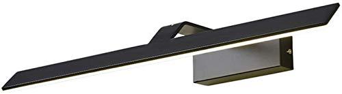 Lámparas de pared industriales, Mirror Cuarto de baño Luz Nordic Simple Negro Curvado ARC Aluminio Hierro forjado Luz de pared LED de acrílico LED para la visualización de la imagen de la imagen (luz