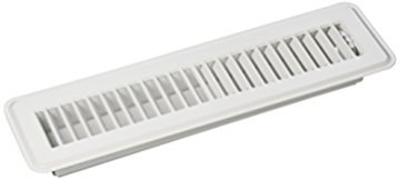 """Rocky Mountain Goods Floor Register 2"""" X 12"""" - Heavy Duty Walkable register - Premium Finish - Easy adjust air supply lever - 2 Inch by 12 Inch Floor Vent (White)"""
