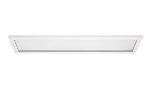 Mi-Led Panel T Rectangular Ascendente y descendete, Color Blanco, Potencia 40 W, Luz Natural para Oficinas, Recepciones, Iluminación Decorativa, Diseño Fino, UGR<19 para Gran Confort Visual
