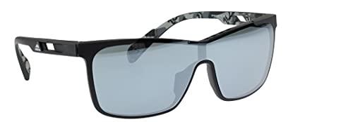 adidas SP0019 02C gafas de sol negro mate/camuflaje, lente de espejo gris de contraste plateado