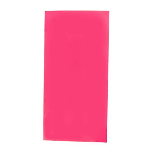 10 × 20 cm Plexiglas-Platte farbige Acryl-Platte DIY Spielzeug Zubehör Modellbau, One Size, rot