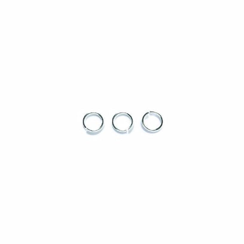 Shipwreck Beads Plated Brass Jump Ring, 6 mm, 18-Gauge, Metallic, Silver, 50 gm Pack