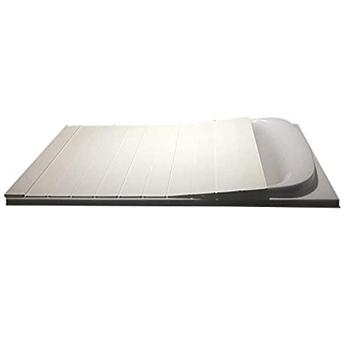 HYYDP Bandeja de baño Tablero de baño Accesorio de bañera Atthtub Bandeja Tapa de bañera Anti-Polvo PVC Plegable Placa de Polvo Tapa Protectora de la bañera (Tamaño: 116 * 75 * 0.6cm)