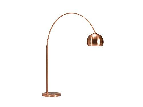 Invicta Interior Design Bogenlampe Lounge Deal Kupfer Marmorfuss 170 - 210cm ausziehbar