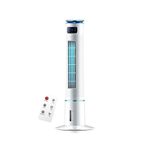 ZUIZUI Ventilador de torre oscilante con mando a distancia, ventilador de refrigeración silencioso, cuenta con 3 velocidades, oscilación de 80° y temporizador de 15H