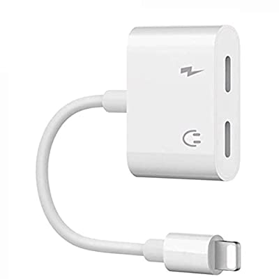 Headphone Jack Adapter, Double LT Jack AUX Audio Dongle Adapter 2 in 1 Music & Charging Cables Connector Compatible with iPhone 11/7/8 Plus/X/10/XSXS Max/XR from Beanmay