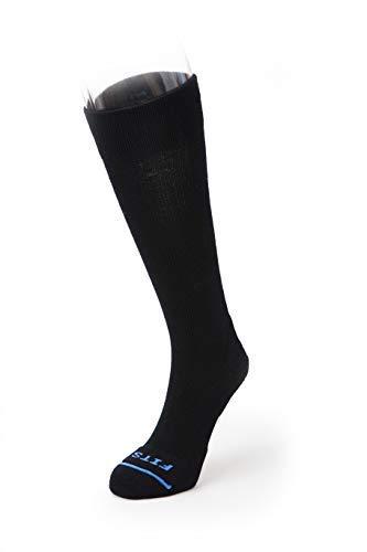 FITS Cushioned Compression - OTC Socks (Black) Medium