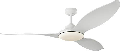 Monte Carlo 3STR60RZWD Stockton 60' Outdoor Ceiling Fan with LED Lights & Remote, 3...