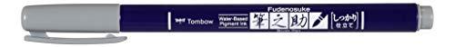 Tombow WS-BH49 Brush Pen Fudenosuke harte Spitze grau