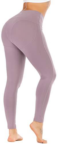 RUNNING GIRL Sexy Butt Lift Yoga Leggings High Waist Tummy Control 4 Way Stretch Yoga Pants for Women Active Running Workout Shapewear Push Up Leggings(CK2308 Black.S)