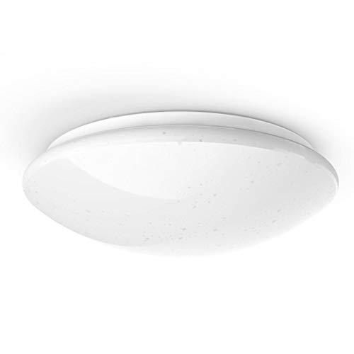 Hama Wi-Fi LED Deckenleuchte, kompatibel mit Alexa/Google Home (ohne Hub, dimmbar, Ø 30cm, App-/Sprachsteuerung, zB per Echo Dot, warmweiß/neutralweiß/kaltweiß, 2,4GHz, rund) WLAN Decken-Lampe