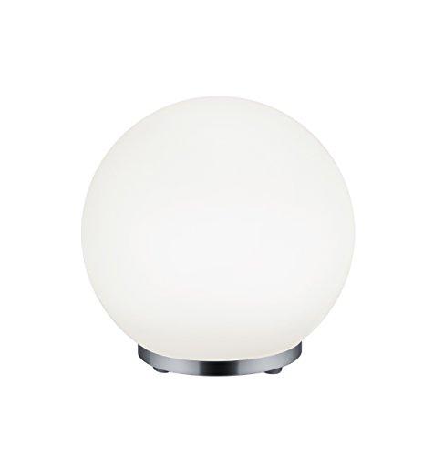 Reality Leuchten LED Stimmungs-Tischleuchte, Glas, Integriert, 5.5 W, Chrom, 19,9 x 19,9 x 19,9 cm