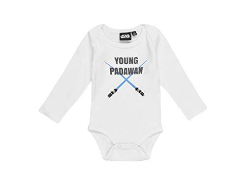 Star Wars Body para bebé. Blanco 12 meses