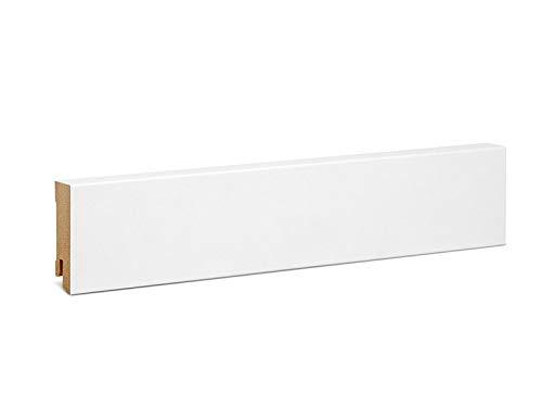KGM Sockelleiste Express Modern – Weiß folierte MDF Fußbodenleiste – Maße: 2500 x 19 x 60 mm – 1 Stück
