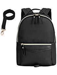 mommore Fashion Toddler Backpack Travel Kids Bookbag with Safety Leash, Black