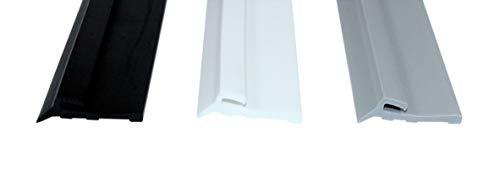 SN-TEC Fensterbankdichtung/Anschlussdichtung/Fensterdichtung SNSD 4000 Farbauswahl: Schwarz/Weiss/Grau (je 10 mtr) (Weiß)