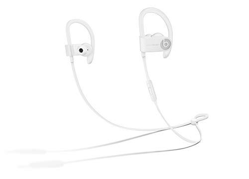 Fones de ouvido sem fio Powerbeats3 – Chip de fone de ouvido Apple W1, Bluetooth Classe 1, 12 horas de tempo de audição, fones de ouvido resistentes ao suor – Branco