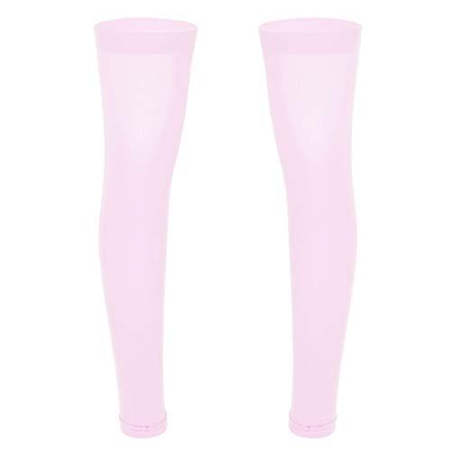 Alvivi Herren Nylon Socken Strümpfe Männer Mesh Transparent Stockings Strumpfhosen Netzstrumpfhose Pink Sissy Dessous-Legging Rosa Einheitsgröße