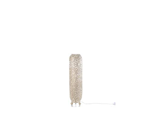 Beliani Stehlampe im Glamour Stil Metall Creme/Gold Mures