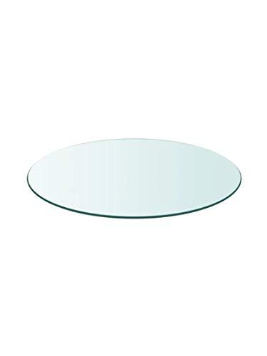 Tapa de Cristal para Mesa Redonda en Varias Medidas con Forma Circular Vidrio (Redondo 120 cm)