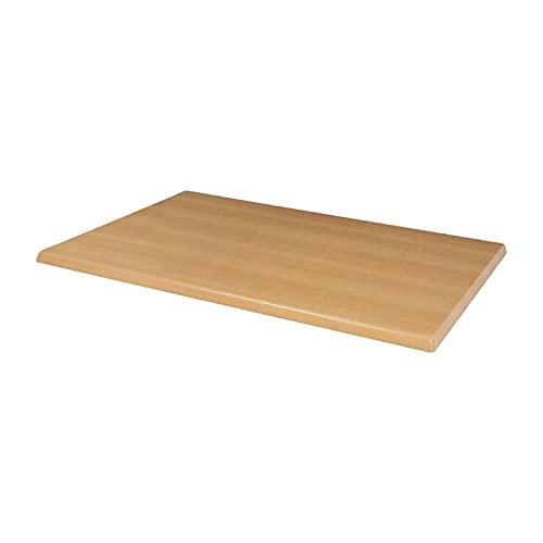 Bolero Table rectangulaire pré-percée effet hêtre 1200 x 800 mm