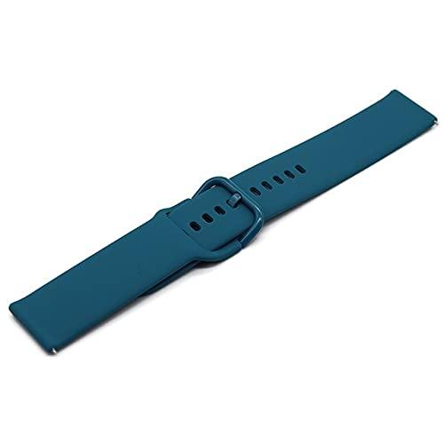 Junior one grocery 20mm 22mm Banda de Silicona para Samsung Galaxy Watch Active 2 Active 3 Gear S2 Correa de Reloj Correa de Pulsera para Huami Amazfit bip-7,22mm