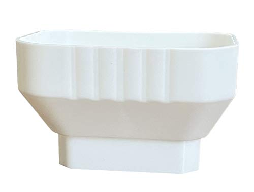 3x4 Downspout to 2x3 Downspout Adapter (White)