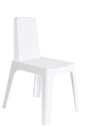 resol grupo Julia Set de 4 sillas para Interior, Exterior, jardín, Blanco
