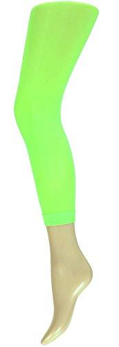 krautwear Damen Mädchen Leggins Leggings60 den Karneval Fasching Kostüm schwarz rot rosa blau (grün-SM)