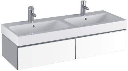 Keramag iCon Waschtischunterschrank 1190 x 240 x 477 mm, für Doppelwaschtisch Korpus/Front: Alpin matt