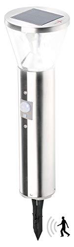 Lunartec Wegbeleuchtung Solar: Solar-LED-Wegeleuchte mit Licht-Sensor und Bewegungsmelder (Wegbeleuchtung mit Bewegungsmelder)