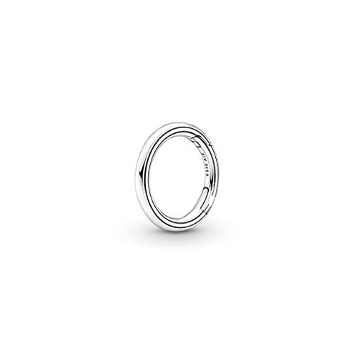 Pandora ME 799671C00 - Conector redondo de plata de ley, compatible con pulseras Pandora ME, altura: 16,5 mm