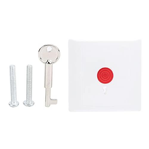 Botón de alarma de pánico de emergencia con cable de diseño simple, interruptor de propiedad de acceso de puerta inteligente de seguridad para el hogar con llave 250V