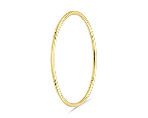 fajno | Goldring Damen 750er Gold. Goldschmuck, 18k Gold | Handmade Ringe | Stapelring dünn | Geschenk für Frauen, Geschenk Muttertag