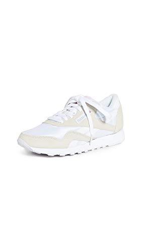 Reebok Women's Nylon Sneaker, Classic White/Light Grey 2, 8
