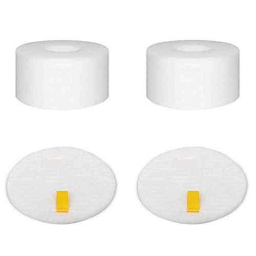 2 Pack NV680 NV800 Foam & Felt Filter Kit Replacement for Shark Rotator DuoClean Powered Lift Away Speed Vacuum NV680, NV681, NV682, NV683, NV800, NV800W, NV801, NV803, UV810, Replace XHF680 XFF680, 2 Foam Filters + 2 Felt Filters