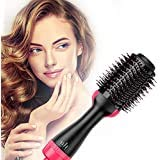 khushi Hot Air Brush, Hair Dryer, and Volumizer Styler, Professional 3-in-1 Salon Negative Ion...