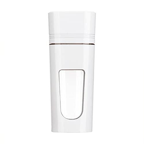 LLSL Mini Blender, Blender Portable, Mini Juicer Cup, USB Recargable y poderosa Capacidad de Corte con Cuatro Cuchillas - Adecuado para Deportes, Viajes y al Aire Libre,Blanco