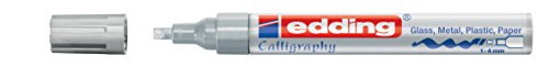 edding Glanzlack-Marker Kallografie 755 creative, 1-4 mm, silber
