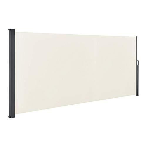 ArtLife Seitenmarkise Dubai 500 x 180 cm ausziehbar Blickdicht, Sichtschutz & Windschutz für Balkon & Terrasse, Seitenrollo mit Wandhalterung - beige