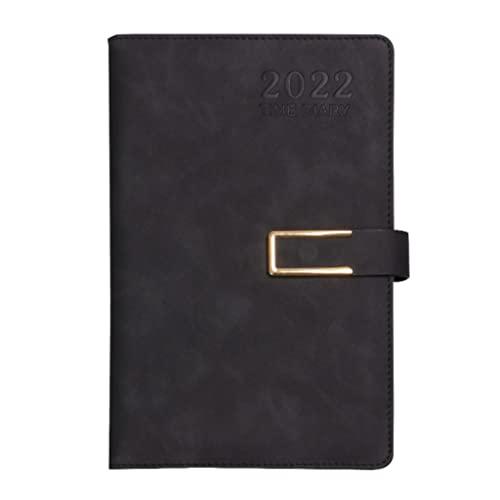 2022 Planner- Weekly& Monthly Planner 2022 Weekly Planner& Appointment Book Professional Annual Week Schedule Calendar 5.9″x8.6″ 12 Months (Color : Black)