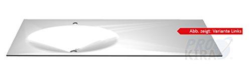 PELIPAL Solitaire 6010 Krion-Waschtisch, Weiß matt/KWT 54-1330-L/R/B: 133 cm