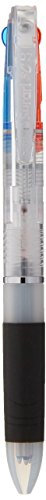 Zebra Surari 3C, 3 Color Emulsion Ink Multi Pen, 0.7 mm, Clear Body (B3A11-C)