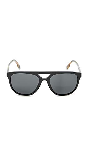BURBERRY Gafas de Sol BE 4302 BLACK/GREY 56/18/145 hombre