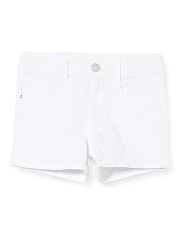 ESPRIT KIDS Mädchen RQ2500502 Denim Shorts, Weiß (White 010), (Herstellergröße: 170)