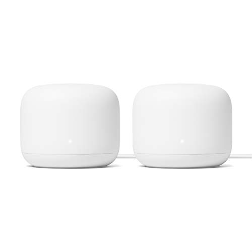 Google Nest WiFi Router 2 Pack (2nd Generation) – 4x4 AC2200 Mesh...