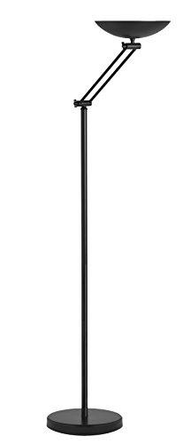 Unilux LED Deckenfluter Dely, schwarz, dimmbar, 3000lm, 3000K, warmweisses Licht, IP20, 30W