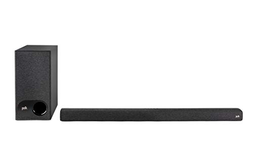 Polk Audio Signa S3 Ultra-Slim TV Sound Bar and Wireless Subwoofer with Built-in Chromecast | Compatible with 8K, 4K & HD TVs | Wi-Fi, Bluetooth | Works with Google Assistant